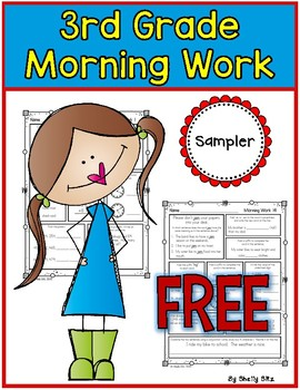 Morning Work for Third Grade Sampler