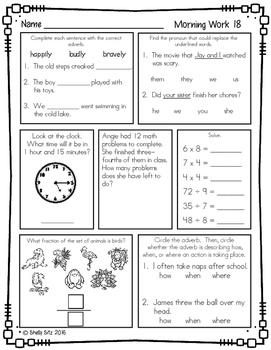 Morning Work for Third Grade (Third Quarter)
