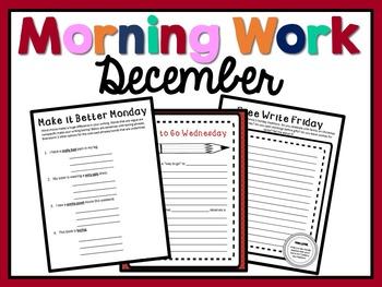 Morning Work - December