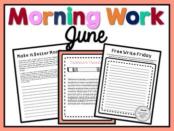 Morning Work - June