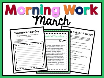 Morning Work - March