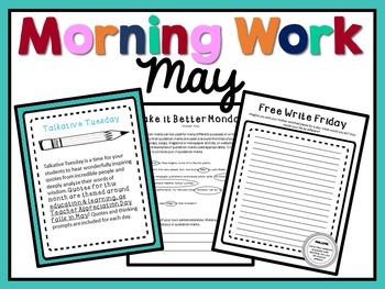 Morning Work - May