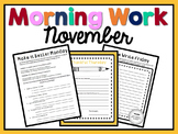 Morning Work - November
