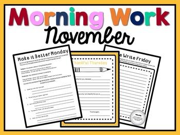 Morning Work - November