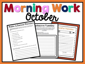 Morning Work - October