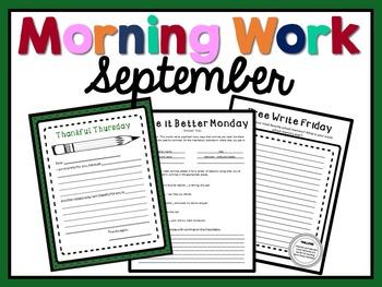 Morning Work - September