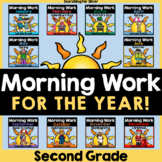 Morning Work for the Year Bundle {2nd Grade} PDF & Digital Ready!