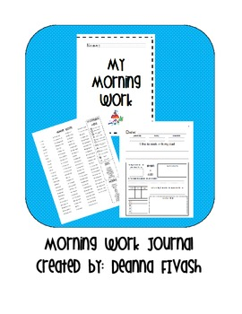 Morning Work for the YEAR! (Second Grade)