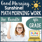 Math Morning Work 4th Grade {The Bundle}