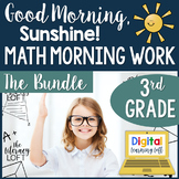 Math Morning Work 3rd Grade {The Bundle}