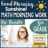 Math Morning Work 5th Grade {The Bundle}