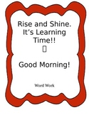 Morning Work with Little Teacher Prep