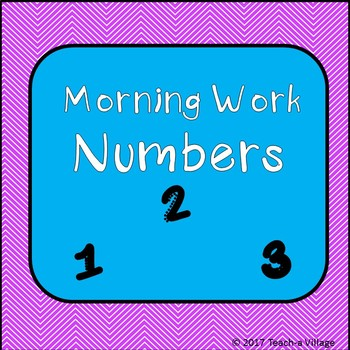 Morning Work with Numbers