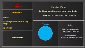 Morning Work with timer