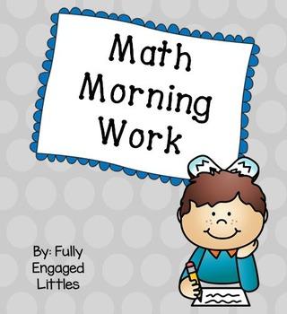 Morning Work/Homework Math FREEBIE