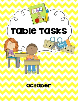 Morning Work/Table Task for October