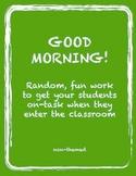 Morning Worksheets