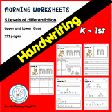 Kindergarten and First Grade Handwriting Worksheets
