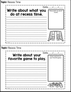 Morning Writing Interactive Notes Grades K and 1