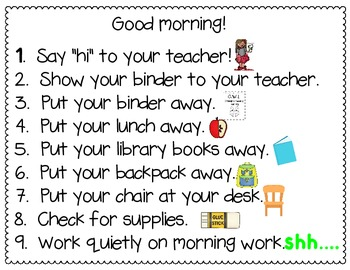 Morning and Afternoon Procedures
