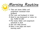 Morning and Afternoon Routine Posters Elementary