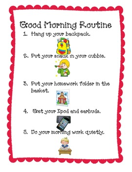 Morning and Afternoon Routines Posters