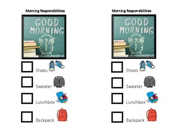 Morning and Afternoon School Routines