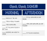 Morning and Afternoon routine desktop checklist