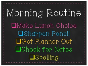 Morning and Dismissal Routine Editable