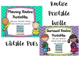 Printable Routines Bundle (Morning, Dismissal, and Work)