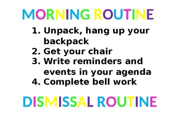 Morning and Dismissal Routines