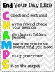 Morning and End-of-Day Routine CHAMPS Acronym Posters