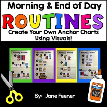 Morning and End of Day Routine Anchor charts