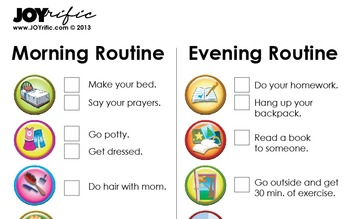 Morning and Evening Routine Chart