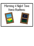 Morning and Nighttime Routine Visual Schedules for Home (Autism & Special Ed)