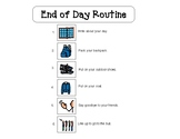 Morning and end of Day Routine - Visual Schedule