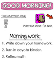 Morning message- lunch count - attendance * Editable*