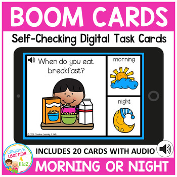Morning or Night Digital Task Cards: BOOM CARDS
