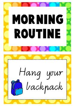 Morning routine display