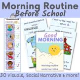 Morning routine - social story, visuals and reward chart