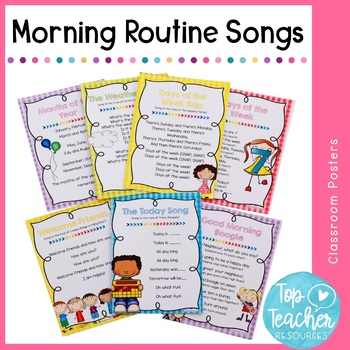 Morning routine song posters