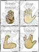 Morning student greeting cards - hand signs