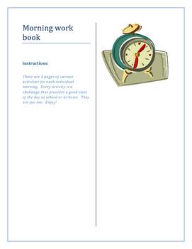 Morning work book
