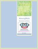 MorningWork Remediation & Review - Second grade