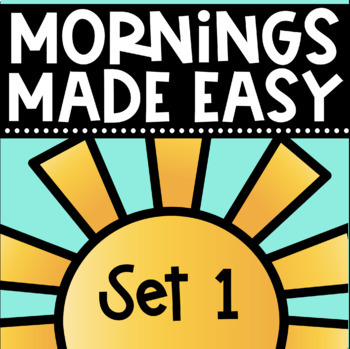 Mornings Made Easy Set One! First Grade Morning Work By Tweet Resources