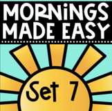 Mornings Made Easy Set Seven! First Grade Morning Work By Tweet Resources