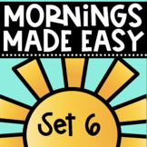 Mornings Made Easy Set Six! First Grade Morning Work By Tweet Resources