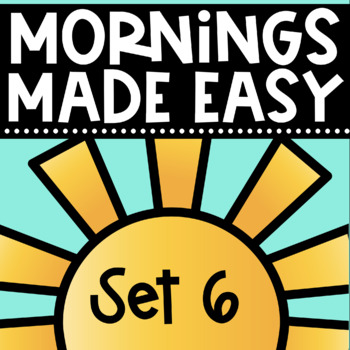 Mornings Made Easy Set Six! First Grade Morning Work By Tw