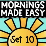 Mornings Made Easy Set Ten! First Grade Morning Work By Tweet Resources