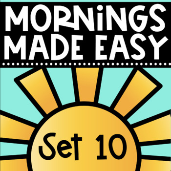 Mornings Made Easy Set Ten! First Grade Morning Work By Tweet Resources